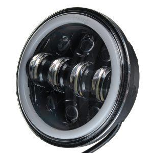 5.75 Inch Motorcycle Projector LED Headlight Sealed Hi-Lo Beam Halo Ring Lamp Bulb