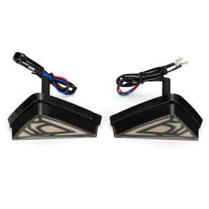 12V Pair Motorcycle Turn Signal Light LED Demon Eye Water Flow Mode For Honda For Kawasaki For Suzuki For Yamaha