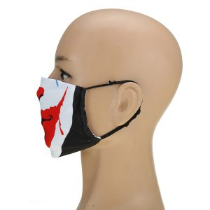 Halloween Scary Print Dust Washable Reusable Filter & Reusable Mouth Warm Mask