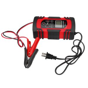 100W 12V/24V LCD Car Battery Charger Pulse Trickle Motorcycle Boat RV Maintainer Smart Repair Battery Charging Activation