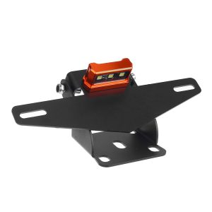 Motorcycle Rear License Plate Tail Frame Holder Bracket with LED Light for 125 250 390 200 2013-2019