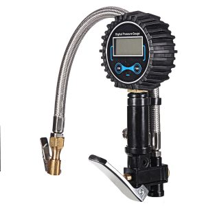 Digital Tire Inflator Gauge Air Compressor Pump Quick Connect Coupler for Car Truck Motorcycle