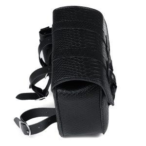 Motorcycle Saddlebag Tool Bag Luggage With Bottle Holder Left / Right Side Black