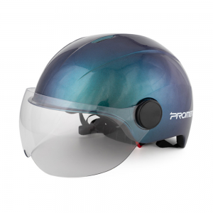 PROMEND Men Women Helmet Integrally Molded Eps Breathable With Visor Aero Lens For Motorcycle Electric ScooterBicycle Cycling