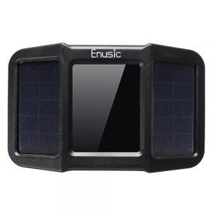 Enusic T400 Solar Power + USB TPMS Waterproof LCD Display Motorcycle Real Time Tire Pressure Monitor System Wireless WI External Sensor