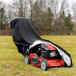 Waterproof Walk Behind Push Lawn Mower Cover Storage Rain Dust UV Protector Yard