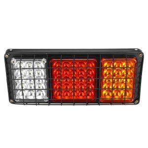 2PCS 24V 55 LED Trailer Lights Rear Tail Light Truck Caravan Stop Indicator Lamps
