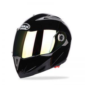 JIEKAI JK105 Motorcycle Helmet Flip Up Unveiled Headpiece With Double Plating Lens Electric Bike Men Anti-Fog All Seasons Helmets