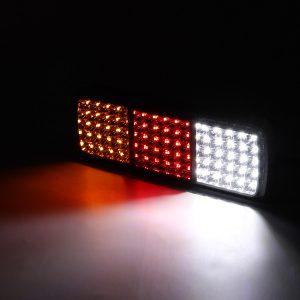 2pcs 75 LED Truck Tail Light Trailer Brake Running Turn Signal Reverse Boat Indicator Truck Caravan Lamp