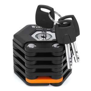 Foldable Anti Theft Hamburg Lock Security Chain With 3 Keys for Bike Bicycle Motor