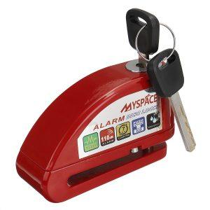 110dB Motorcycle Wheel Alarm Disc Brake Lock Metal Security Anti-theft