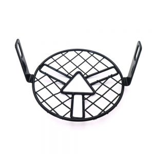 Motorcycle Black Grill Mesh Headlight Cover Retro Vintage Arrow Style Side Mount Mask CG125 GN125
