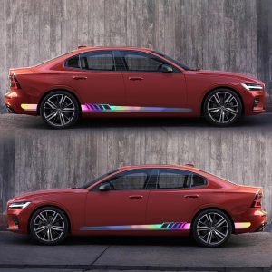 2pcs Body Both Side Graphics Vinyl Long-Stripe Reflective Colorful / Solid Color Car Decal Sticker