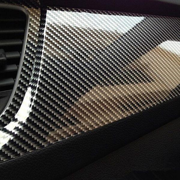 5D Carbon Fibre Vinyl Car Wrap Extra Glossy Film Sticker Air Bubble Free
