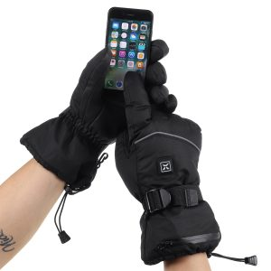 Women Men Electric Battery Heated Gloves Touchscreen Waterproof For Motorcycle Riding Skiing Winter Cycling