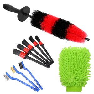 10PCS Car Detailing Brush Kit Vehicle Auto Wheel Clean Brush Set Car Washing