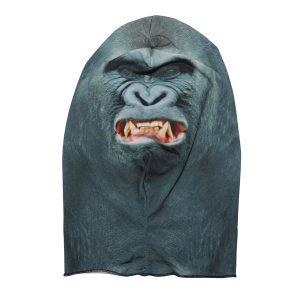 3D Gorilla Pattern Polyester Fleece Animal Character Mask Halloween Scary Mask
