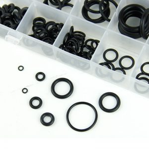 225PCS Assorted O RING SET Black Rubber Seals Sink Tap Washers Plumbing Air Gas
