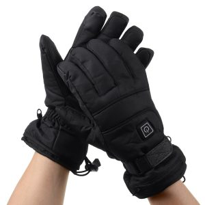 Rechargable Battery Electric Heated Gloves Touch Screen Full Finger Winter Warm Heat Climbing Skiing Riding Gloves
