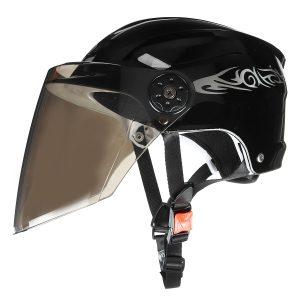 Nuoman 316 Motorcycle Half Face Helmet Electric Scooter Bicycle Helmet With Visor Lens