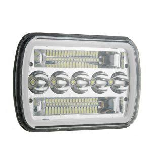 "120W 5×7 7×6"" LED Headlight Hi-Low Beam DRL Warning Halo For GMC Savana 3500"