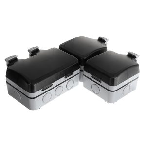 110-240V 13Amp Waterproof Wall Power Socket IP66 Outdoor Garden Socket Switched