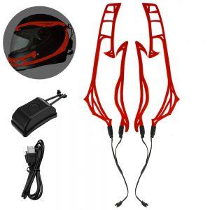 Rechargeable Motorcycle Helmet Signal Lamp Flashing Strip LED Strip Light Luminous Sticker Universal