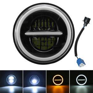 7 Inch DRL LED Headlight Hi/Lo Beam Halo Turn Signal Lamp For Harley/JEEP/Wrangler Car Truck Motorcycle