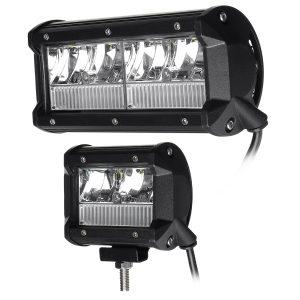 9-32V 4 Inch / 7 Inch LED Work Light Aluminum Alloy White Bar Spot Flood Combo Fog Driving Light Offroad
