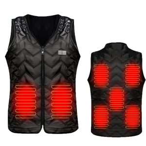 Electric Heated Vest Jacket Smart Thermal Warm Up Heating Pad Body Warmer Winter