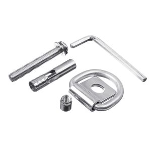 Motorcycles Ground Safety Lock Stainless Steel Motorcycle Parking Lock Silver