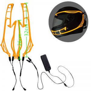 4-in-1 8 Color Motorcycle LED Night Riding Signal Helmet EL Cold Light 3 Modes Led Helmet Light Strip Decoration Kit Bar