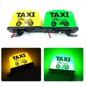 12V Motorcycle Sign LED Light LED TAXI Sign Light Indicator Decoration Parts