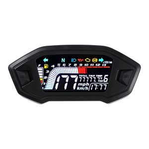 Universal LED Speedometer Digital Odometer For 2.4 Cylinder Motorcycle Rpm13000R