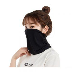 Ice Silk Scarf Mask Outdoor Cycling Mask Sunscreen Bib Turban Headgear Protective Breathable Riding Mask