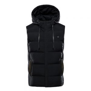 7 Heating Pads Electric Heated Vest USB Winter Warm Jacket Unisex Hooded Waistcoat Clothing Intelligent Constant Temperature M-7XL