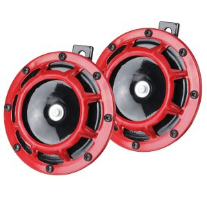 2pcs 12V 130dB High Low Horn Horn Pressure Whistle Horn For Car Truck Motorcycle Waterproof