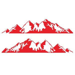 2PCS Mountain Stickers Side Body Decal For Camper RV Van Car SUV Caravan
