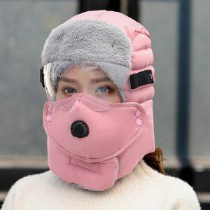 Winter Men Original Design Winter Hat For Women Waterproof Hood Hat With Glasses