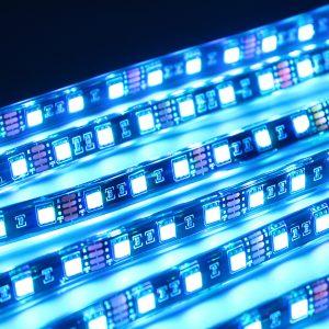 8PCS Car Motorcycle ATV Strip RGB LED Remote Under Glow Brake Light bluetooth Kit