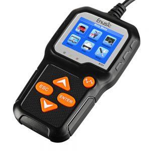 Enusic BT01 Professional 6V 12V Battery Tester 100-2000CCA Color LCD Display Car Motorcycle Load Analyzer Cranking Charging Diagnostic Tool