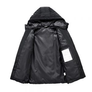 3 Heating Pads USB Electric Heated Jacket Long Sleeve Warm Winter Thicken Windproof Thermal Men Coats Hooded Coat Intelligent Constant Temperature