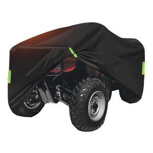 190T Waterproof Quad Bike ATV Cover with Reflective Stripe Black Universal Covers 210x120x115cm
