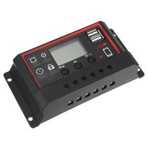 10A/20A/30A 12V/24V Solar Panel Chager Controller Photovoltaik Solarmodul LCD Display Dual USB