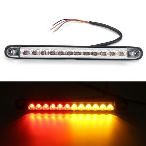 10-30V LED Trailer Light Rear Turn Brake Light Bar Red Yellow Dual Color Waterpoof IP68 For Car Truck RV