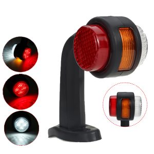 Left / Right Side 12V 24V Side Marker Light Indicator Rubber LED Lamp Trailer