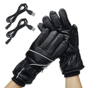Motorcycle Electric Heated Gloves Rechargeable Battery Powered Touch Screen Winter Hand Warmer