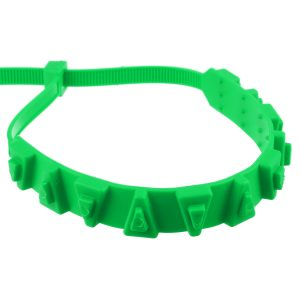 10Pcs Green Snow Chain Tire Emergency Rainproof Nylon Wear-Resistant Low Temperature