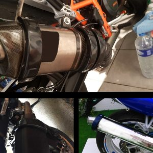 Motorcycle Exhaust Silencer Tube Heat Shield Protector Adjust 10cm-14cm