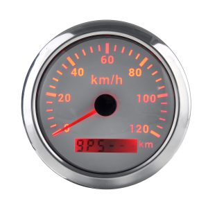 85mm 9-32V 120/200 KM/H GPS Speedometer Gauge with Red Backlight With GPS Antenna For Car Truck Boat Motor Auto